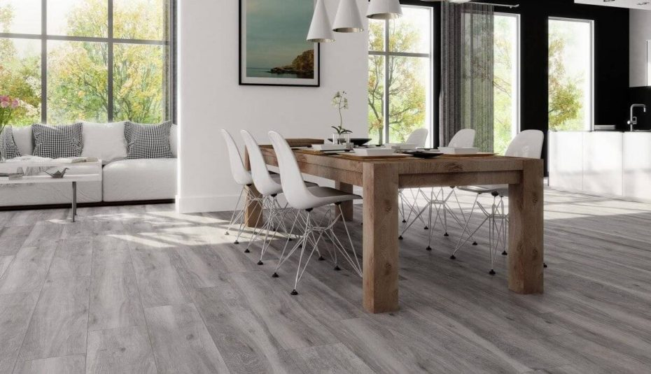 Atelier Grey Wood Floor Tiles And Dining Room Table Beautiful Home Apartment Living Combo Decorating Ideas Paint Color Combined One Small Divider Design Colors 930x535 Absolute Flooring